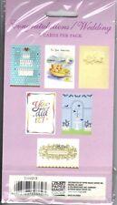 "Congratulations / Wedding Greeting Cards 6 Differant Designs w/ Envelopes 4""x6"""