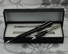 Clearing Out Hero 359 Summer Color Fountain Pen Black With Roller Pen Kits