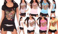 T-Shirt Donna Maglietta Elasticizzata KOUCLA B052 Tg M/L L/XL