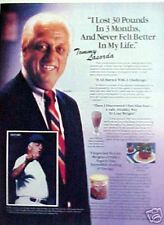 1989 Tommy Lasorda Los Angeles Dodgers Baseball Ultra Slim-Fast ODDBALL ITEM AD