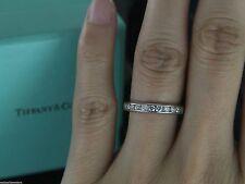 $5150 Tiffany Platinum 1.00ct Diamond 3mm Wedding Band Full Circle Ring Size 6