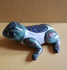 Unusual Mexican Folk Art. Studio Pottery. Decorated Ceramic Frog