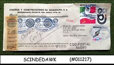 MEXICO - 1984 REGISTERED ENVELOPE TO USA WITH STAMPS