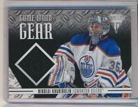 2012-13 Panini Titanium Game Worn Gear GG-NK Nikolai Khabibulin Edmonton Oilers