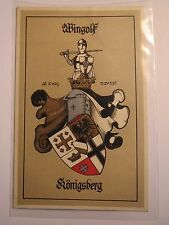 Königsberg - Wingolf - 1913 - Wappen mit Ritter / Studentika