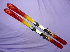 New listing K2 Burnin' Luv T:Nine T9 Women's Skis 153cm Flat, w/ SALOMON Z10 Ti Bindings ❆