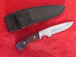 Milo custom handmade full tang wood fixed blade knife & sheath