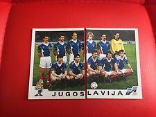 Panini Euro 92 1992 Football Soccer Stickers - Yugoslavia Jugoslavija - 64 65