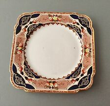 1922 BURGESS BROS England Navy Red Gold Imari 885 Tea Dessert Plate 7.5 inches