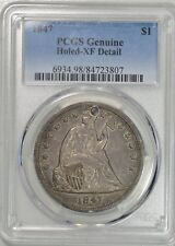 1842 Seated Dollar PCGS XF details, it's got a hole, great hole filler