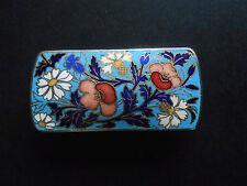 BROCHE VINTAGE EMAILLEE fleurs marguerittes / Enamelled brooch