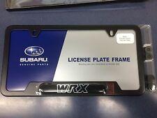 "Genuine Subaru Impreza ""WRX"" Black License Plate Frame SOA342L125 NEW WRX OEM !!"