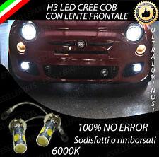 COPPIA LAMPADE FENDINEBBIA H3 LED CREE COB CANBUS PER FIAT 500 6000K