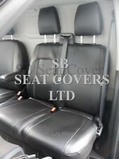 TO FIT A FORD TRANSIT VAN SEAT COVERS - SPORT, EBONY BLACK LEATHERETTE