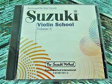New! Suzuki Violin School Cd Volume 8 Accompaniment Disc Koji Toyoda 0921