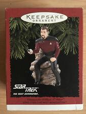 STAR TREK TNG 1996 Hallmark Com. William T. Riker Keepsake Christmas Ornament