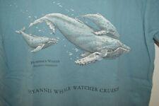 Hyannis Cape Cop Whale Watcher Club Humpback T-Shirt Mens Small