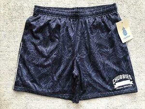 "NEW Chubbies Men's Easy Mesh Gym Shorts Large 5.5"" Shorts Black Lined Jump"