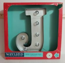 """9"""" Wayland Square Marquis Lighted Letter """"J"""" Battery Powered W Timer NIB"""