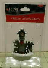 Rite aid village accessories, christmas, short wall with clock and trees.