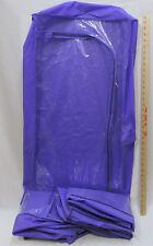 3 Large Peva Storage Bags Zipper Biodegradable Non Chlorinated Vinyl Purple