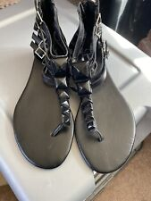 Jessica Simpson Demeter Black Leather Thong Sandal - Size 7