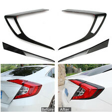 Carbon Fiber Taillight Cover Tail Lamp Accessories For Honda Civic Sedan 2016