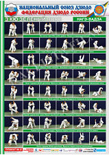 Posters JUDO. Green  belt  1 poster.The technique of judo.