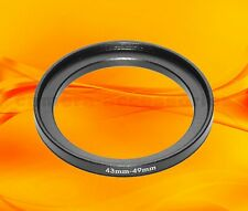 43mm to 49mm 43-49 Stepping Step Up Filter Ring Adapter 43-49mm 43mm-49mm (UK)