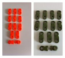 Micro/Tactical Side Release Buckles For Paracord Bracelet.12.Orange/Olive Green.