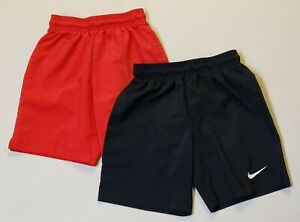 Set of 2 - Youth NIKE Laser Woven III Soccer Shorts, Red & Black - Size Small S