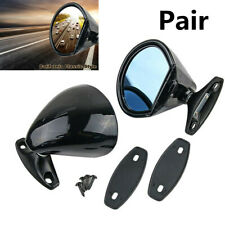 2X Universal Classic Car Door Wing Side View Plane Mirror Hot Rod Rat Rod Muscle