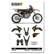 2013-2015 KTM SX/SXF Rockstar Motocross Graphics Dirt Bike Graphic Decal