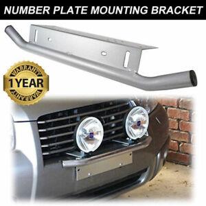 Number Plate Bullbar Frame For Driving Light Bar Mount Mounting Bracket Silver