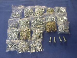UNF NUT BOLT & WASHER KIT 650 PIECE CLASSIC CAR MG MINI TRIUMPH FORD AUSTIN  bh