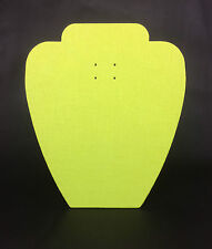 Set of 5 Jewellery Display Card Busts [A] Zesty Lime Green