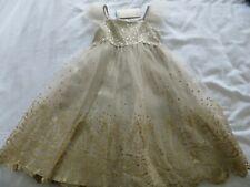 BNWT Girls Monsoon Gold Estella Sequin Occasion Bridesmaid Dress 2-3 yrs 92-98cm