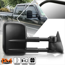 For 88-02 Chevy/GMC C/K 1500/2500/3500 Power Adjusting Black Towing Mirror Right