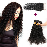 9A Indian Deep Wave Virgin Human Hair 4 Bundles With 4*4 Closure With Baby Hair