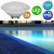 3er Set SMD LED Piscina Bombilla Lavabo Faros PAR56 Lámparas Azul