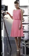 Veromia Occasions 10 Coral Pleated Dress Mother Of The Bride Wedding Guest £209