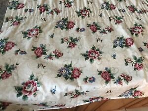 FABULOUS COUNTRY CURTAINS 3 PC VALANCE,BEIGE,CRANBERRY&BLUE