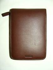 Coach Brown Leather Zip Around Palm Pilot Pda Organizer Card Case! Very Nice!