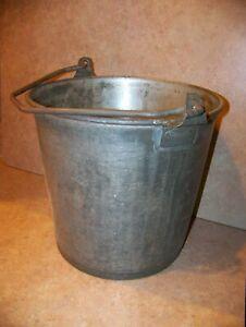 Vintage Heavy Superior Milk Bucket Pail