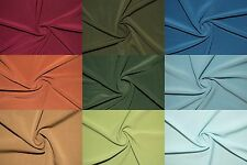 """ITY Fabric Polyester Lycra Spandex Stretch 22 Colors 58""""-60"""" Medium Weight BTY"""