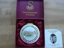Staffordshire Enamel Anne Hathaway Cottage Box w/Box