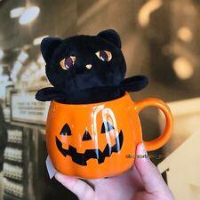 Starbucks Cup 2019 China Anniversary Halloween Fluffy Cute Cat Pumpkin 13oz Mug