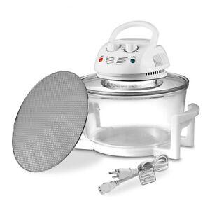 NutriChef PKAIRFR48 Kitchen Countertop Air Fryer Oven Cooker with 13 Quart Bowl