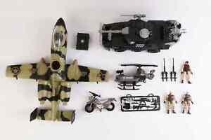 Army Fighter Jet Set Army Jeep F16 Motorbike 3 Army Figures Pretend Play Army