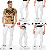 CIPO & BAXX Herren Jeans CD319C NEU Hose Slim Fit Enges Bein Denim Stretch